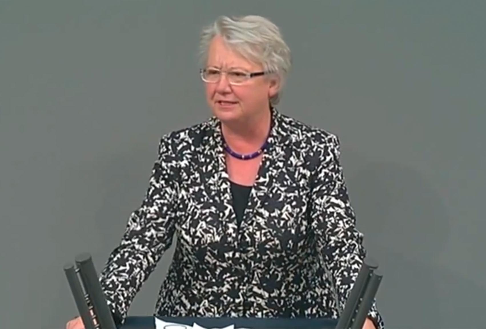 Annette Schavan im Bundestag